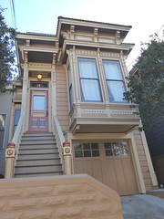 San Francisco, CA, Noe Valley, Victorian House (Mary Warren 13.5+ Million Views) Tags: sanfranciscoca architecture building house residence victorian urban garage stairs bowwindow noevalley