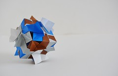 Aquileia var. Cube (Byriah Loper) (Byriah Loper) Tags: origami origamimodular modularorigami modular byriahloper paperfolding paper polygon polyhedron geometric