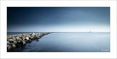 Lucidity III (Frank Hoogeboom) Tags: zuidholland netherlands holland zeeland nederland grevelingenmeer brouwersdam sea sky sun panorama water lake grevelingen nature outdoors longexposure color blue pier inlet scenic travel