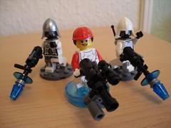 Combat Droids (+ Combat Hacker) (Śląski Hutas) Tags: lego bricks minifigures scifi futuristic robots androids poland polska
