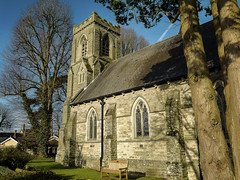 St David's Church, Miskin, Pontyclun [Explored 08/03/2018] (All I want for Christmas is a Leica) Tags: church churchesinwales churchgrounds sunlight architecture wales panasoniclumixgf5 panasoniclumix14mm panasonic outdoors gardens