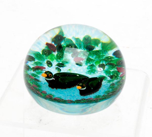 William Manson Art Glass Paper Weight ($145.60)