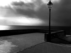 """Storm"" (giannipaoloziliani) Tags: minimal clouds dark sunrays sunlight sea landscape horizon view genova genoa boccadasse capture nikoncamera nikonphotography biancoenero blackandwhite storm"