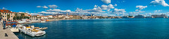 Riva and Harbour Panorama (fotofrysk) Tags: panorama pan riva parade people tourists locals tower cathedraltower palmtrees mointains clouds sky harbour gradskaluka baydiocletians palaceroman fortressold stonesistriamontenegro road tripbuildingsarchitecturecroatiasplitadriatic coastdalmatian coastsigma 1750mm f28 ex dc ox hsnikon d7100 20171007976569