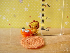 107-Lion 10mm (5) (tinyteensdolls) Tags: amigurumi crochet craft crochetmini crochettoy crochetminiature toy tinyamigurumi tiny threadcrochet miniature mini microcrochet micro minicrochet miniamigurumi yellow lion handmade dollhouseminiature dollhouseminiatures dollfordolls
