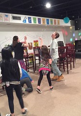 JLGA Bubble Night at the Riverbender Community Center. Junior League of Greater Alton sponsored a bubble room, bubble art, and a bubble blowing contest.