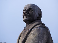 Look from the past (PershinS) Tags: 7dwf crazytuesdaytheme statue outdoor lenin sky portrait