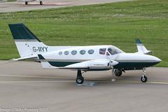 G-IIYY - 1979 build Cessna 421C Golden Eagle II, taxiing for departure on Runway 24 at Friedrichshafen during Aero 2017 (egcc) Tags: 421c0621 aero aerofriedrichshafen aerofriedrichshafen2017 bodensee ce421 cessna421 cessna421c diiyy disal edny fdh friedrichshafen giiyy goldeneagle lxsky lightroom n88636 simon