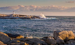 Peggy's Cove after a stormy week (Nancy Rose) Tags: 2958 peggyscove ocean atlantic waves village coastal maritime lighthouse granite rocks