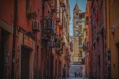 Walking around the beautiful Cagliari... Sardinia (Ula P) Tags: colorful cagliari sardinia oldtown sony