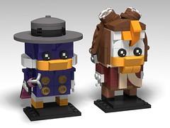 Darkwing Duck, BrickHeadz MOC (headzsets) Tags: lego legophotography legomoc legomocs moc afol legoidea legobrickheadz brickheadz darkwingduck launchpad launchpadmcquack drakemallard disney disneyafternoons disneylego