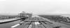 Bayport Pano (181pics) Tags: pano blackandwhite bw maritime nautical containership cranes seascape landscape