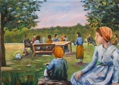 Picnic dipinto a olio (Renoil L.) Tags: picnic oilpainting ariaaperta dipinto scampagnata