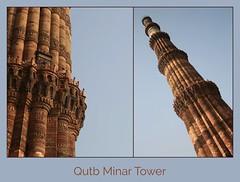 Qutb Minar Tower (Iam Marjon Bleeker) Tags: india delhi newdelhi tower islamitischearchitectuur qutbminartoren eenvandebelangrijkstetoeristischetrekpleisters 725mhoog unesco werelderfgoed dag3md0c7012c