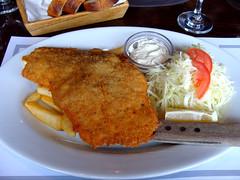 Pork Schnitzel (knightbefore_99) Tags: yugoslav serb restaurant eastern european food lunch tasty burnaby royaloak great pork schnitzel tenen work fries art best