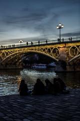 After work chilling (4) (xytse13) Tags: spain espana spanien sevilla andalucia andalusien canon guadalquivir river fluss brücke bridge puente de triana