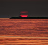 Stairs at the sun (Robyn Hooz (away)) Tags: sun sole sunrise alba faro mare gold oro disco disk chioggia layer 8minutes 149milionikm 1ua time space spacetime venezia
