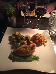 Middag 15/3 (Atomeyes) Tags: mat berlin kyckling gnocchi ratatouille vin ärtpuré