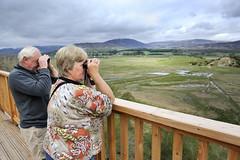 Insh Marshes NNR - visitors at viewing platform (SNH Images) Tags: insh marshes inshmarshes inshmarshesnnr nnr naturereserve reserve tourist tourism ecotourist ecotourism tourists access recreation