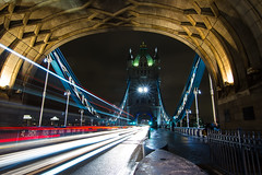 Zooming Through 2 (ijpears) Tags: towerbridge thames london cityscape city river tourist traffic night