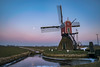 Windmill against the Earth Shadow (mesocyclone70) Tags: windmill earthshadow beltofvenus sunset winter scenics holland mill atmosphere netherlands sky dutch dutchscene scenery scenic cold moon