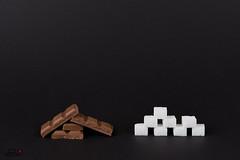 9 Stück Schokolade = 8 Stück Würfelzucker