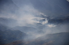 Smoke everywhere (AnyRoadAnywhere) Tags: albania shqiperia laberia cycling bicycle balkan balkans summer family outdoor nature camping forest forestfire fire smoke