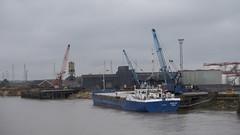 Latvian General Cargo Ship BONAY, Gunness Wharf on the River Trent , 8-3-2018 (Bri Hall) Tags: gunness gunnesswharf rivertrent bonay ship