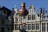 Crowned Lamppost (Rick & Bart) Tags: brussel bruxelles belgië belgique grandplace grotemarkt rickvink rickbart canon eos70d detail lamppost lantern bokeh architecture history