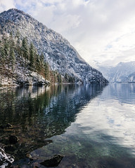 Winter Reflection (Fabian Fortmann) Tags: bavaria bayern germany deutschland reflection reflektion smartphone handy sony xperia xz premium winter landscape königssee berchtesgaden lake water