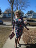 A Bright, Sunshiny Day In My Life As A Woman (Laurette Victoria) Tags: milwaukee sidewalk dress floralprint woman laurette purse
