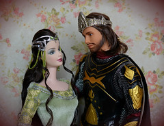 Arwen and Aragorn (Emily-Noiret) Tags: giftset the lord of rings return king 2003 barbie ken arwen aragorn mattel dolls