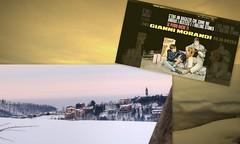 Monghidoro: Gianni Morandi   *   Collage  * (argia world 1) Tags: giannimorandi collage monghidoro bologna emiliaromagna appenninibolognesi cielo sky copertinadisco albumcover ricordi memories