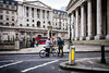 The Bank Of England cyclists (efil') Tags: leicam10 leicaelmarm24mmf38asph bw thecity london