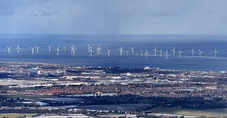 Scroby Sands Wind Farm - Norfolk aerial