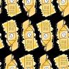 London's Big Ben (Annie Montgomery Designs) Tags: london londonicons bigben clocktower watercolor watercolour fabric fabrics pattern yellow illustration