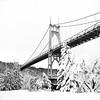 Winter Coat (Aaron Bieleck) Tags: hasselblad500cm 120film analog 6x6 square film filmisnotdead hasselblad mediumformat wlvf stjohnsbridge pdx portland bw blackandwhite filmgrain ilfordxp2400 bridge winter snow pnw pacificnorthwest landscape 60mmct