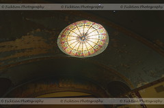Oculus (ficktionphotography) Tags: abandoned abandonedbuilding abandonedtheater architecture ceiling glass oculus urbex glassoculus urbanexploration