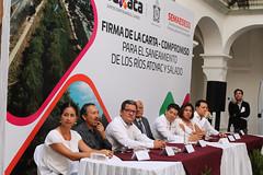 Firman carta compromiso para el saneamiento de los ríos Atoyac y Salado