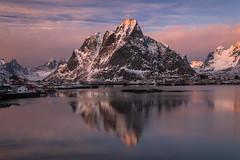 Olstind (Piriya Pete Wongkongkathep) Tags: lofoten sunset mountain winter snow norway olstinden