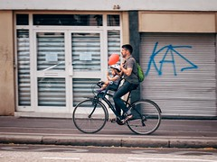 Strasbourg, France (Richard Pilon) Tags: alsace candid france people strasbourg street olympus cyclist streetphotography urban