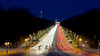 Traffic at night (JuliSonne) Tags: nightscene traffic cars headlights taillights brandenburggate berlin tvtower redtownhall street nightsky lanterns light trails
