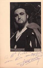 LAGARDE, Fernand, Valentin, Faust (Operabilia) Tags: opera operabilia autograph autographe claudepascalperna dominiquejpréaux valentin faust gounod baritone fernandlagarde lirica