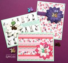 EO-bunny cards-bergold (Eyelet Outlet) Tags: eyeletoutlet laurenbergold easter eastercards cards cardmaking bunnytape rabbitbrads paperflowers washitape easterbubblebrads