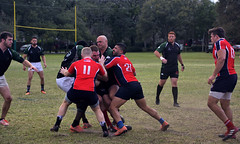 Old Breed v. North Shore (Mike McCall) Tags: copyright2018mikemccall photography photo image georgia usa culture southern america thesouth unitedstates northamerica south stpatricksdayrugbytournament stpatrick day rugby tournament game sport sports field pitch football savannah chatham county documentary editorial people match rugger 2018 daffin park athletics athlete club rfc old breed marines usmc oldbreed north shore northshore