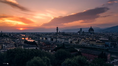Sunset in Firenze (Caramad) Tags: agua florenciaitalia duomo sunset piazzalemichelangelo viajes firenze travel city ciudad puestadesol pontevecchio