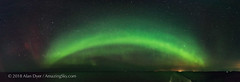 Panorama of the Auroral Oval from Norway (Amazing Sky Photography) Tags: auroraborealis northernlights auroraloval arc north norway panorama ptgui sea ship hurtigruten nordnorge coast 180â° nordlys 180°
