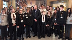With Preston Lodge pupils at Parliament