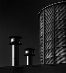 Two pipes (jefvandenhoute) Tags: belgium belgië belgique antwerp antwerpen harbour haven light lines shapes industry geometric