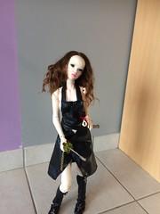IMG_1082 (HommeDoll) Tags: doll dollgirl instadoll katana sabre sword ball bjd bella brown head badass résine racoon racoondoll joint jolie laeticia cuir similicuir sexy girlpower